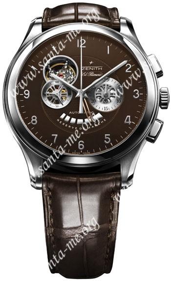 Zenith Grand Class Open El Primero Mens Wristwatch 03.0520.4021.75.C491
