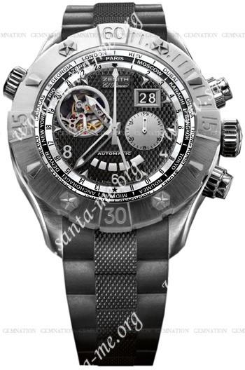 Zenith Defy Classic Open Grande Date Multicity Mens Wristwatch 03.0526.4037-21.R642