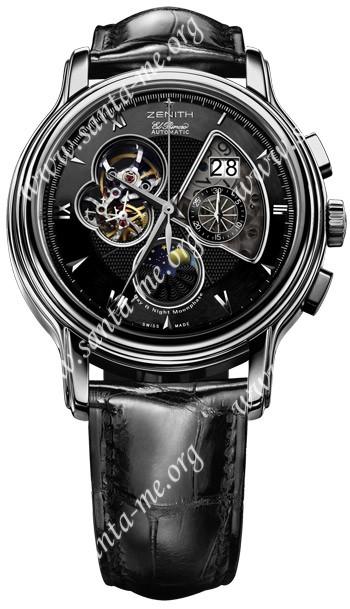 Zenith Chronomaster Open Grande Date Moonphase Mens Wristwatch 03.1260.4047-22.C505