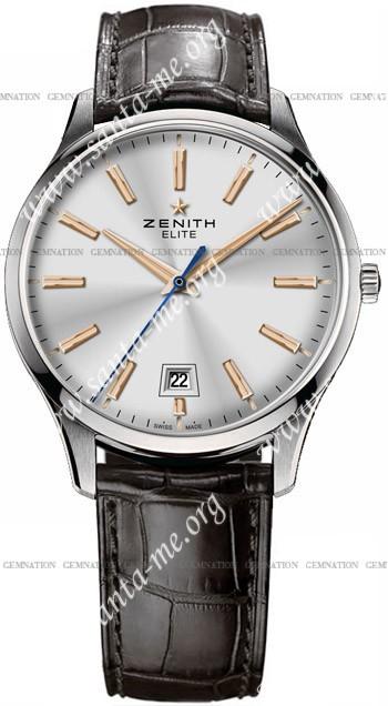 Zenith Elite Captain Central Second Mens Wristwatch 03.2020.670-01.C498