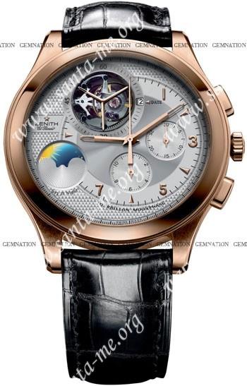 Zenith Class Tourbillon Moon & Sunphase Mens Wristwatch 18.0520.4034-01.C492