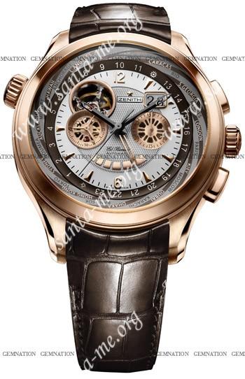 Zenith Grande Class Traveller Multicity Mens Wristwatch 18.0520.4037.02.C661