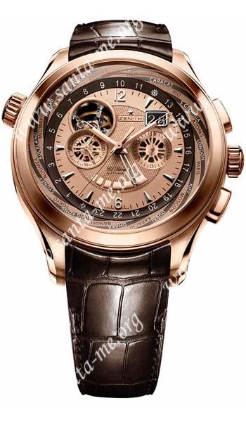 Zenith Grande Class Traveller Multicity Mens Wristwatch 18.0520.4037.71.C491