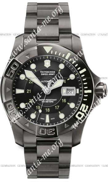 Swiss Army Dive Master 500 Black Ice Mecha Mens Wristwatch 241356
