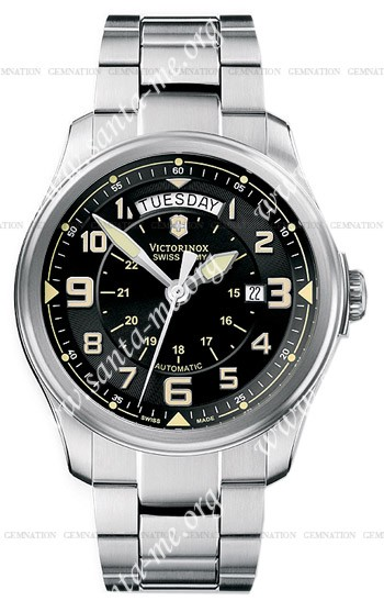 Swiss Army Infantry Vintage Day and Date Mecha Mens Wristwatch 241375