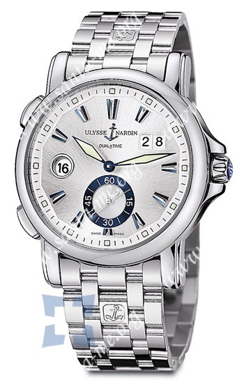 Ulysse Nardin Dual Time 42 mm Mens Wristwatch 243-55-7-91
