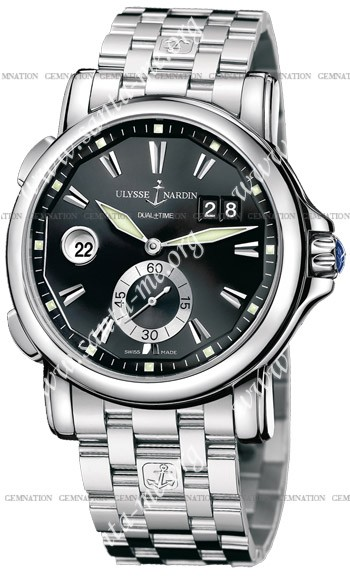 Ulysse Nardin Dual Time 42 mm Mens Wristwatch 243-55-7-92