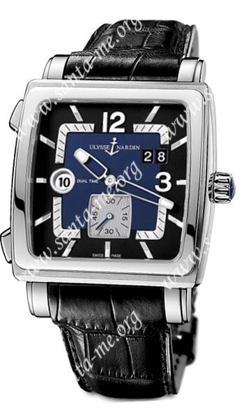 Ulysse Nardin Quadrato Dual Time Mens Wristwatch 243-92-632