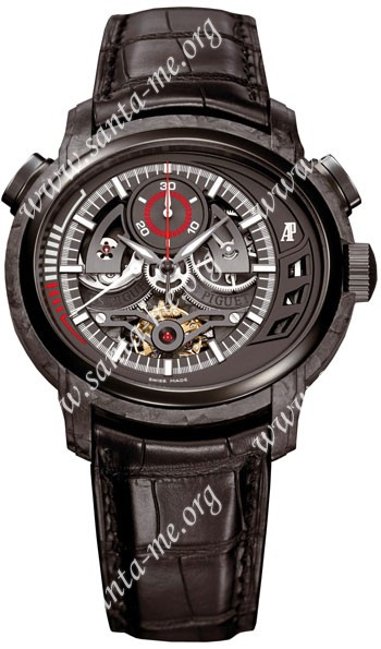 Audemars Piguet Millenary Carbon One Tourbillon Chronograph Mens Wristwatch 26152AU.OO.D002CR.01