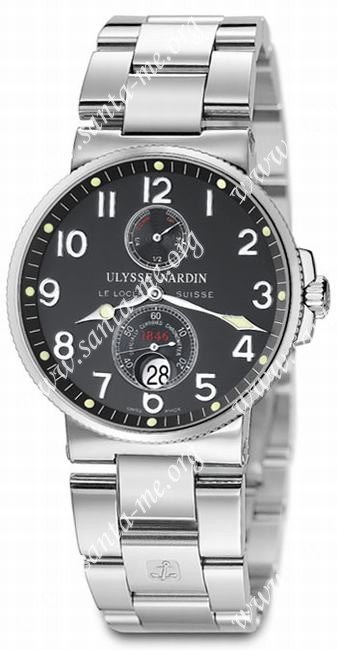 Ulysse Nardin Maxi Marine Chronometer Mens Wristwatch 263-66-7.62