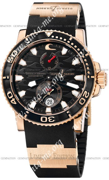 Ulysse Nardin Black Surf Limited Edition Mens Wristwatch 266-37-LE.3A