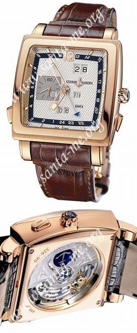 Ulysse Nardin Quadrato Dual Time Perpetual Mens Wristwatch 326-90.61