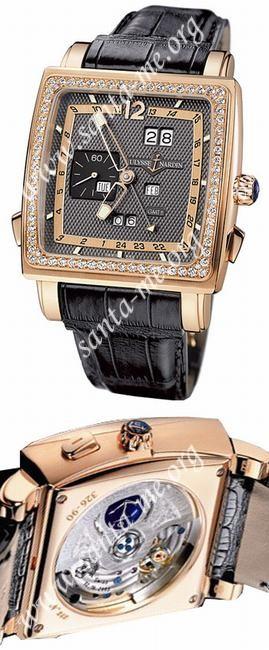 Ulysse Nardin Quadrato Dual Time Perpetual Mens Wristwatch 326-90B.69