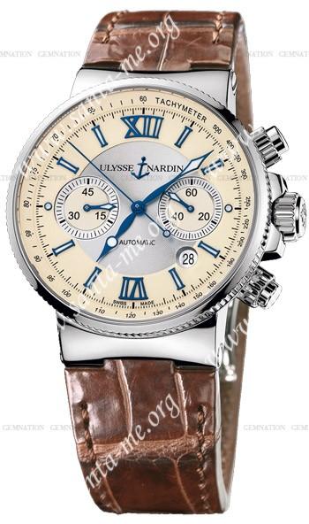 Ulysse Nardin Maxi Marine Chronograph Mens Wristwatch 353-66-314