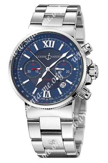 Ulysse Nardin Maxi Marine Chronograph Mens Wristwatch 353-66-7.323
