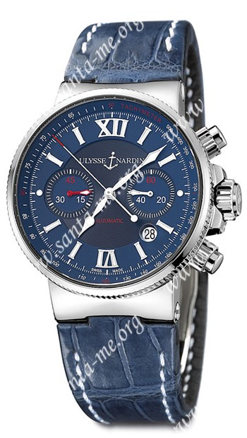 Ulysse Nardin Maxi Marine Chronograph Mens Wristwatch 353-66.323