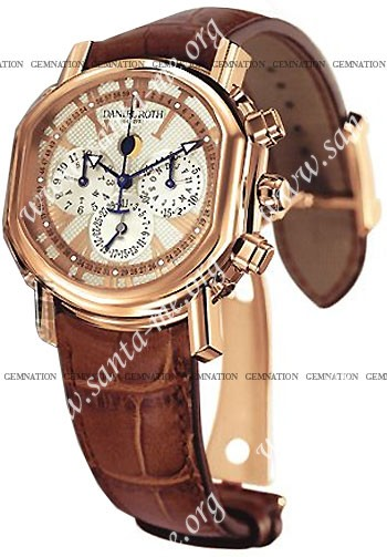 Daniel Roth Ellipsocurvex Perpetual Calendar Chronograph Mens Wristwatch 379.Y.50.193.CC.BD