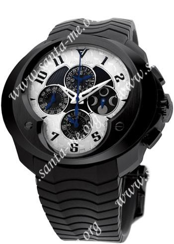 Franc Vila Chronograph Master Quantieme Mens Wristwatch 5.09-FVa9-BDHES-W-GS-rbr