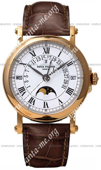 Patek Philippe Perpetual Calendar Retrograde Mens Wristwatch 5059R
