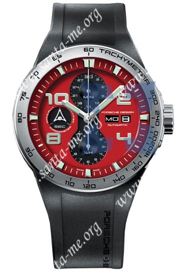 Porsche Design Flat Six Automatic Chronograph Mens Wristwatch 6340.41.84.1169