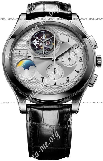 Zenith Class Tourbillon Moon & Sunphase Mens Wristwatch 65.0520.4034-01.C492