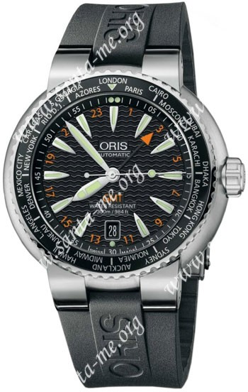 Oris Divers GMT Mens Wristwatch 668.7608.84.54.RS
