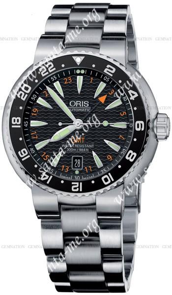 Oris Divers GMT Date Mens Wristwatch 668.7639.84.54.MB