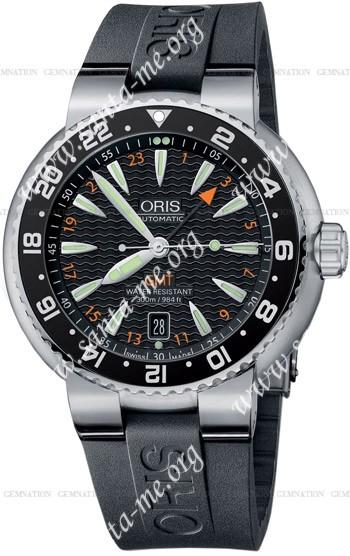 Oris Divers GMT Date Mens Wristwatch 668.7639.84.54.RS