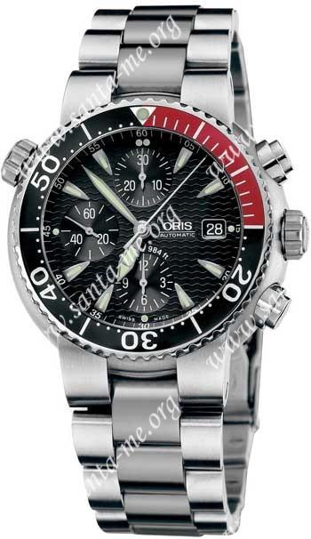 Oris Diver Chronograph Mens Wristwatch 674.7542.71.54.MB