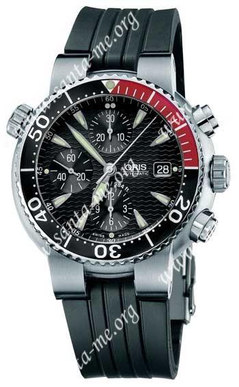 Oris Diver Chronograph Mens Wristwatch 674.7542.71.54.RS