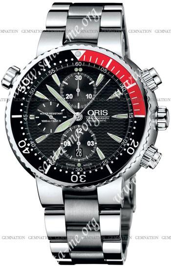 Oris Diver Chronograph Mens Wristwatch 674.7599.71.54.MB