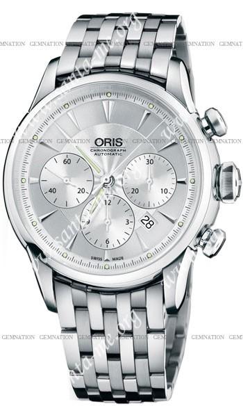 Oris Artelier Chronograph Mens Wristwatch 676.7603.4051.MB
