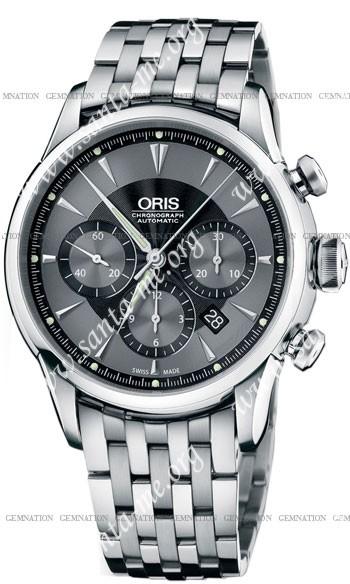 Oris Artelier Chronograph Mens Wristwatch 676.7603.4054.MB