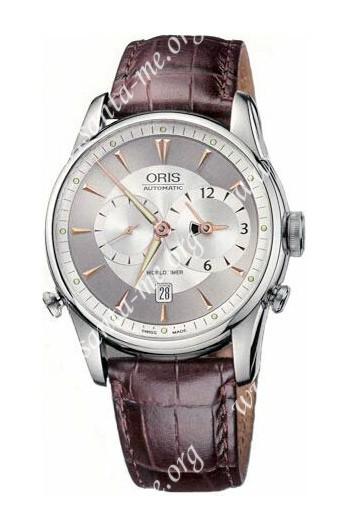 Oris Artelier Worldtimer Mens Wristwatch 690.7581.40.51.LS