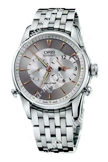 Oris Artelier Worldtimer Mens Wristwatch 690.7581.40.51.MB