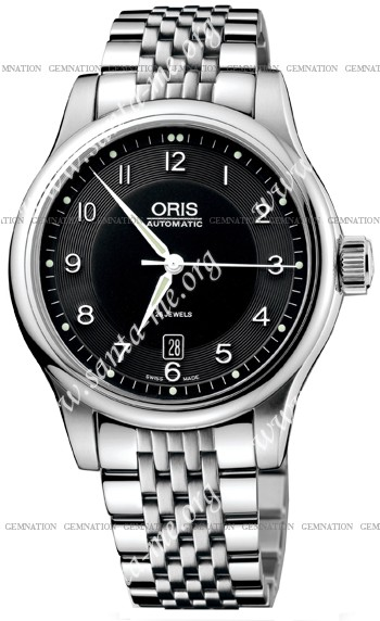 Oris Classic Date Mens Wristwatch 733.7594.40.64.MB