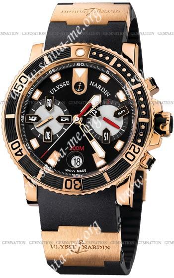 Ulysse Nardin Maxi Marine Diver Chronograph Mens Wristwatch 8006-102-3A.92