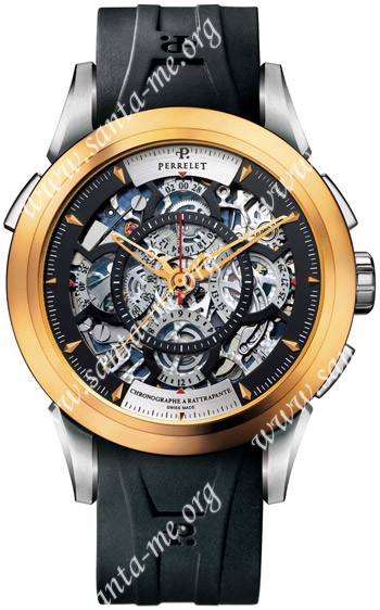 Perrelet Louis-Frederic Split-second Chronograph Rattrapante Mens Wristwatch A1827.1
