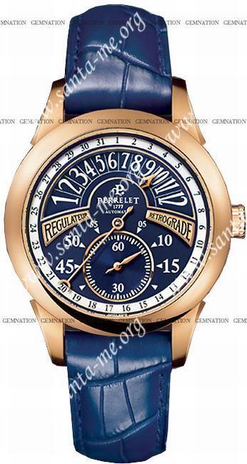 Perrelet Regulator Retrograde Mens Wristwatch A3014.3