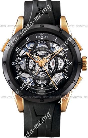 Perrelet Louis-Frederic Split-second Chronograph Rattrapante Mens Wristwatch A3025.1