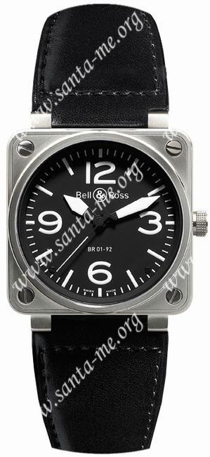 Bell & Ross BR01-92 Mens Wristwatch BR01-92-BD-B-V-27