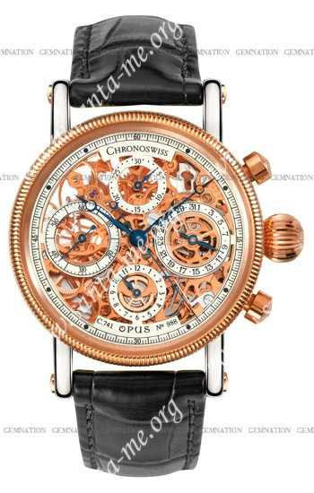 Chronoswiss Opus Skeleton Chronograph Mens Wristwatch CH7522SR