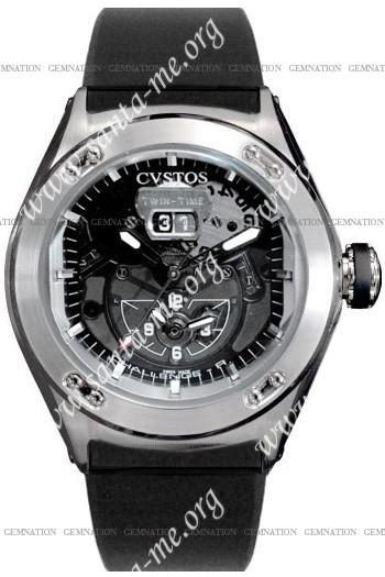 Cvstos Challenge-R Twin Time Mens Wristwatch CVTTRNSTGR