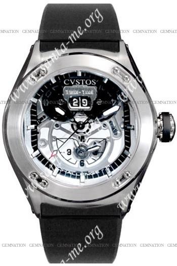 Cvstos Challenge-R Twin Time Mens Wristwatch CVTTRNSTSV
