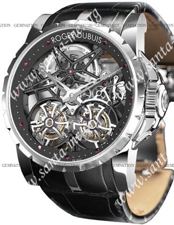 Roger Dubuis Excalibur Double Tourbillon Mens Wristwatch EX45.01SQ.20.00-SE000-B