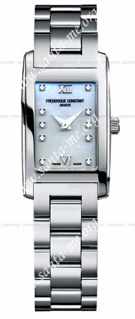 Frederique Constant Carree Quartz Diamonds Ladies Wristwatch FC-200MPWDC16B