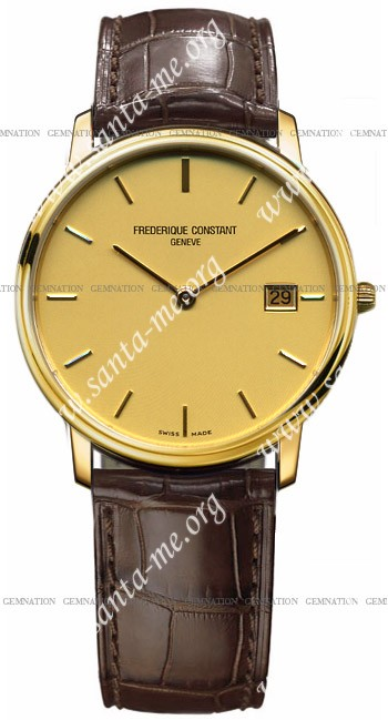 Frederique Constant Index Slim Line Mens Wristwatch FC-220SC4S5