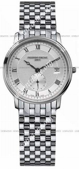 Frederique Constant Classics Slimline Small Second Mens Wristwatch FC-245M4S6B