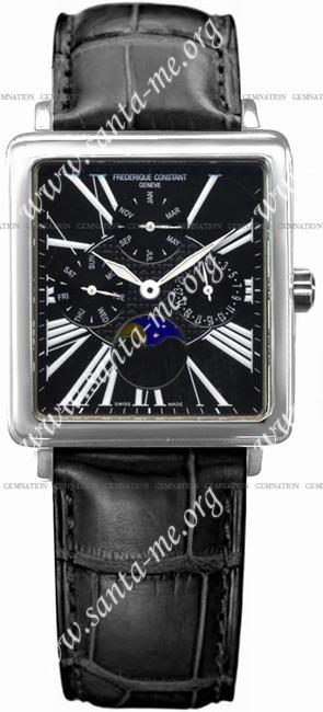 Frederique Constant Carree Moonphase Mens Wristwatch FC-265B3C6