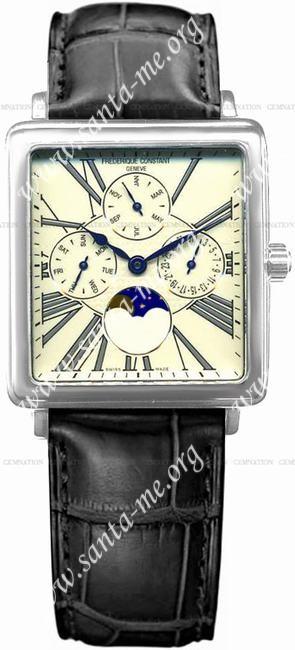 Frederique Constant Carree Moonphase Mens Wristwatch FC-265EG3C6
